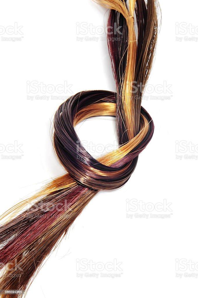 lock of hair royalty-free stock photo