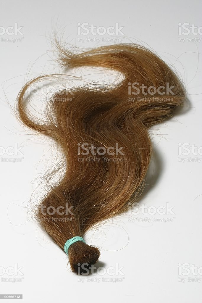 Lock of Red Hair royalty-free stock photo