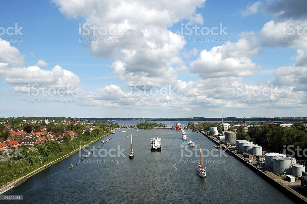 Lock of the Kiel-canal in Kiel, Germany stock photo