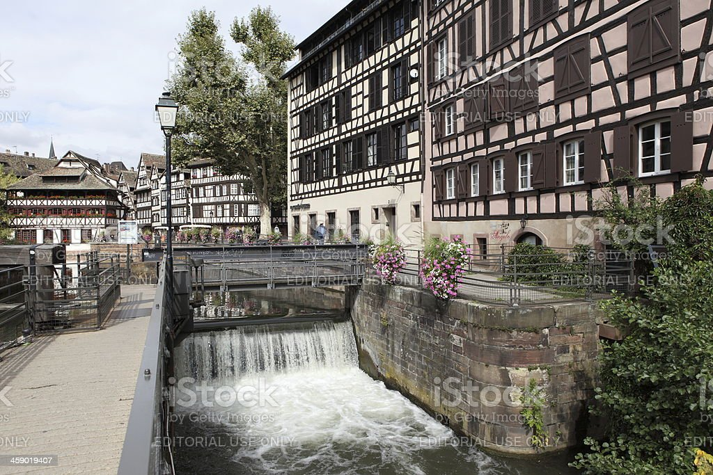 Lock of the Petite France in Strasbourg royalty-free stock photo