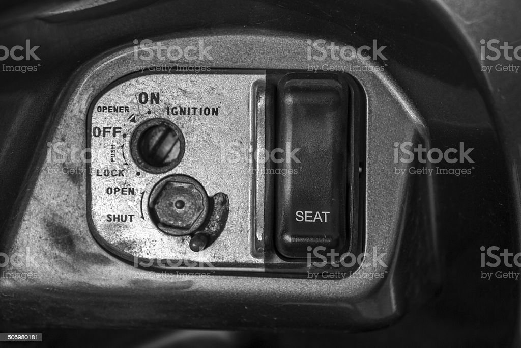 lock on a motorcycle royalty-free stock photo