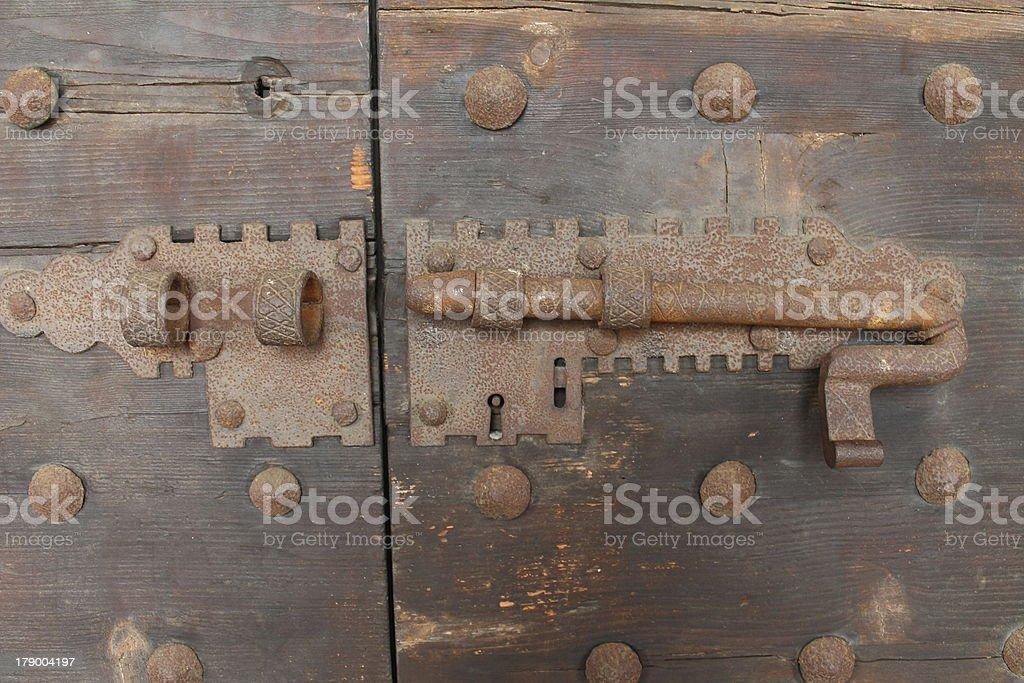 lock on the door royalty-free stock photo