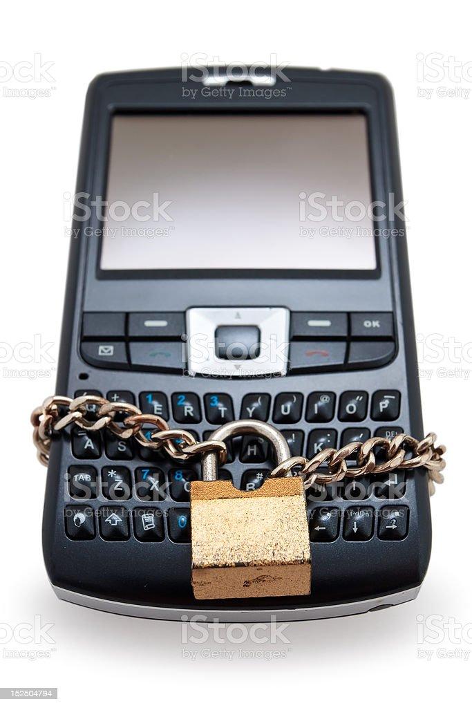 Lock phone royalty-free stock photo