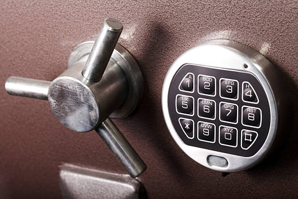 lock, safe, bank, protection, security safe close-up, protection, security lock, banking and finance safes and vaults stock pictures, royalty-free photos & images