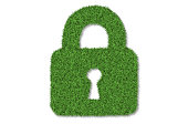 Lock shape made from grass