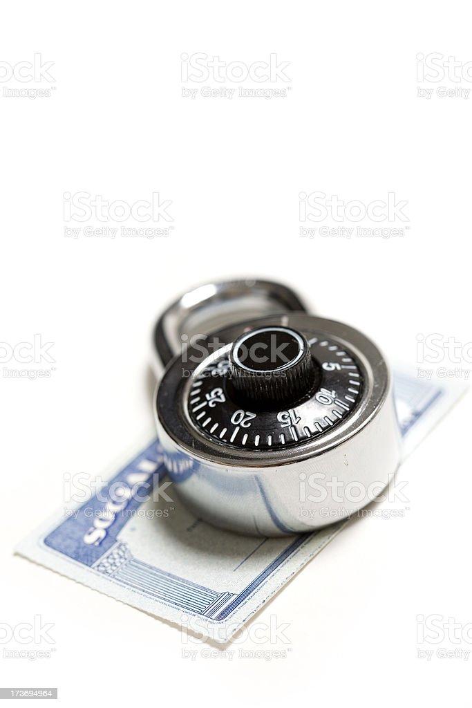 Lock your identity royalty-free stock photo