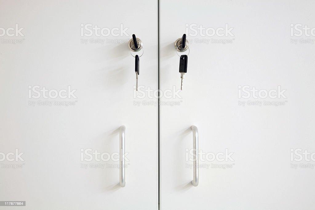 Lockable Cupboard royalty-free stock photo