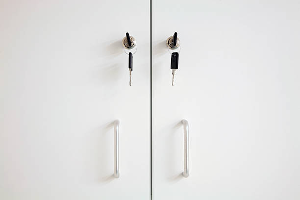 Lockable Cupboard stock photo