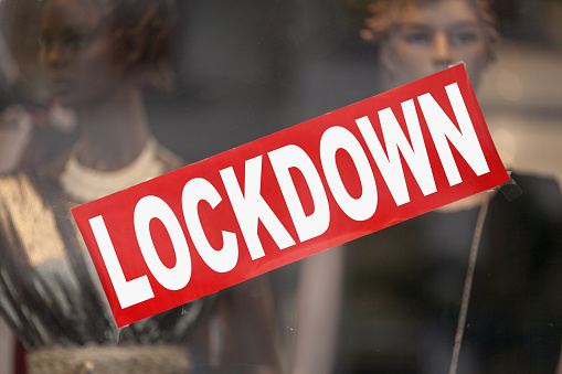 Lockdown Closed Sign Stock Photo - Download Image Now