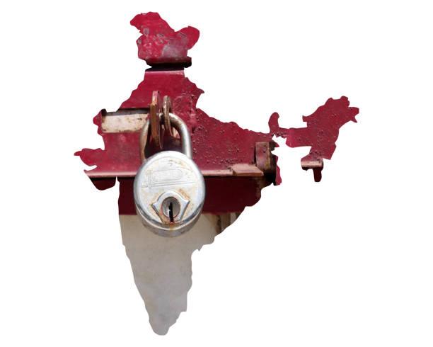 Lockdown India against Coronavirus Or Covid-19 stock photo