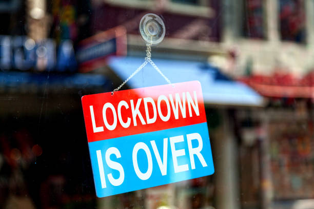 Lockdown is over - Open sign stock photo