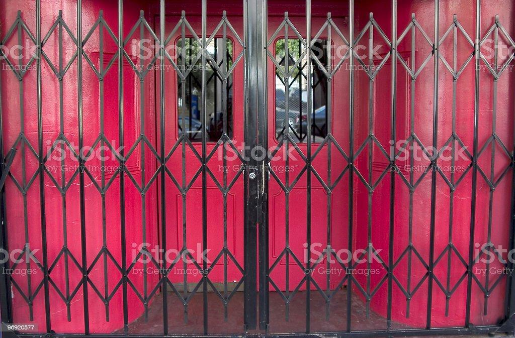 Locked Bar Gates royalty-free stock photo