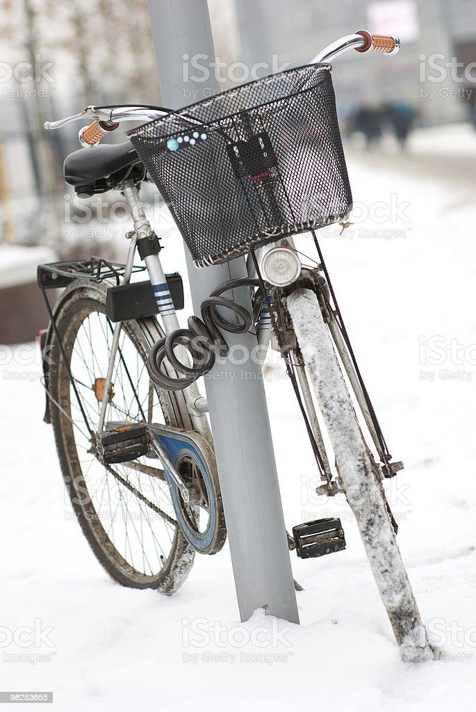 Locked bicycle royalty-free stock photo