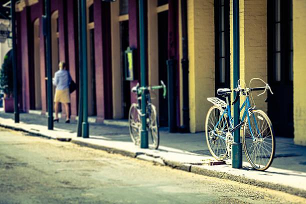 Gesperrt Fahrräder in New Orleans – Foto