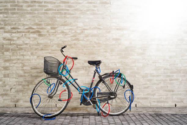 Gesperrt Fahrrad – Foto