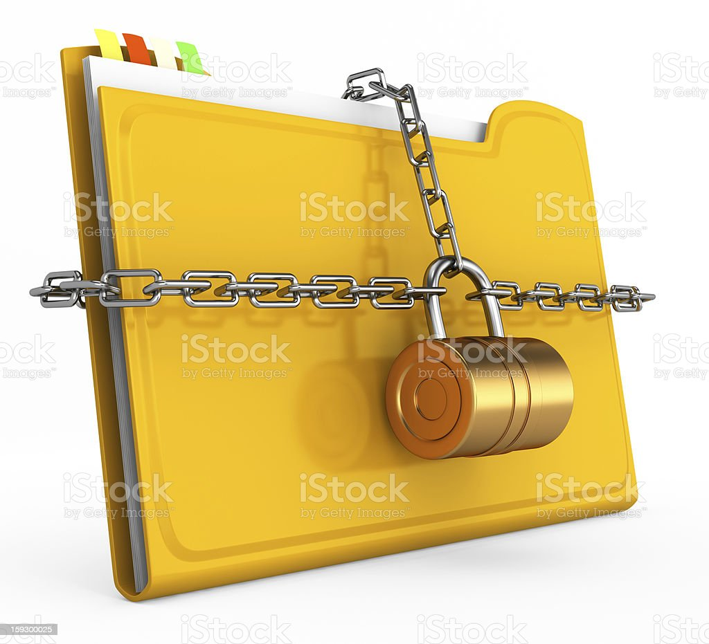locked folder royalty-free stock photo