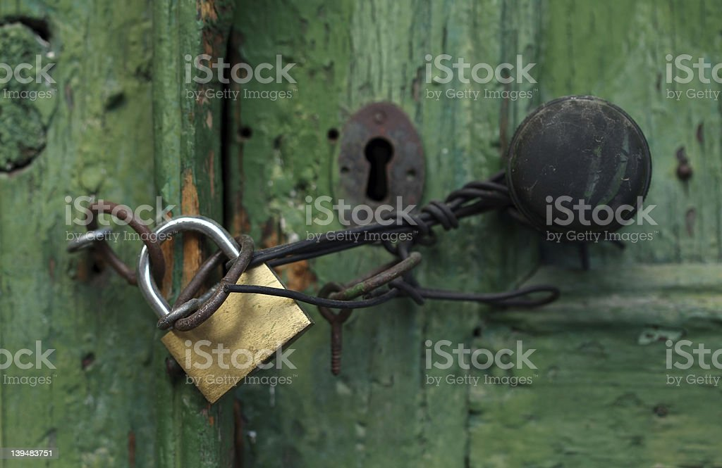 Locked for a long time, close up royalty-free stock photo