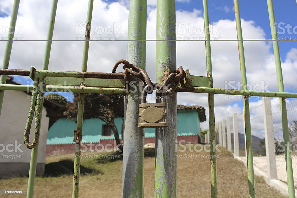 Locked Gate royalty-free stock photo