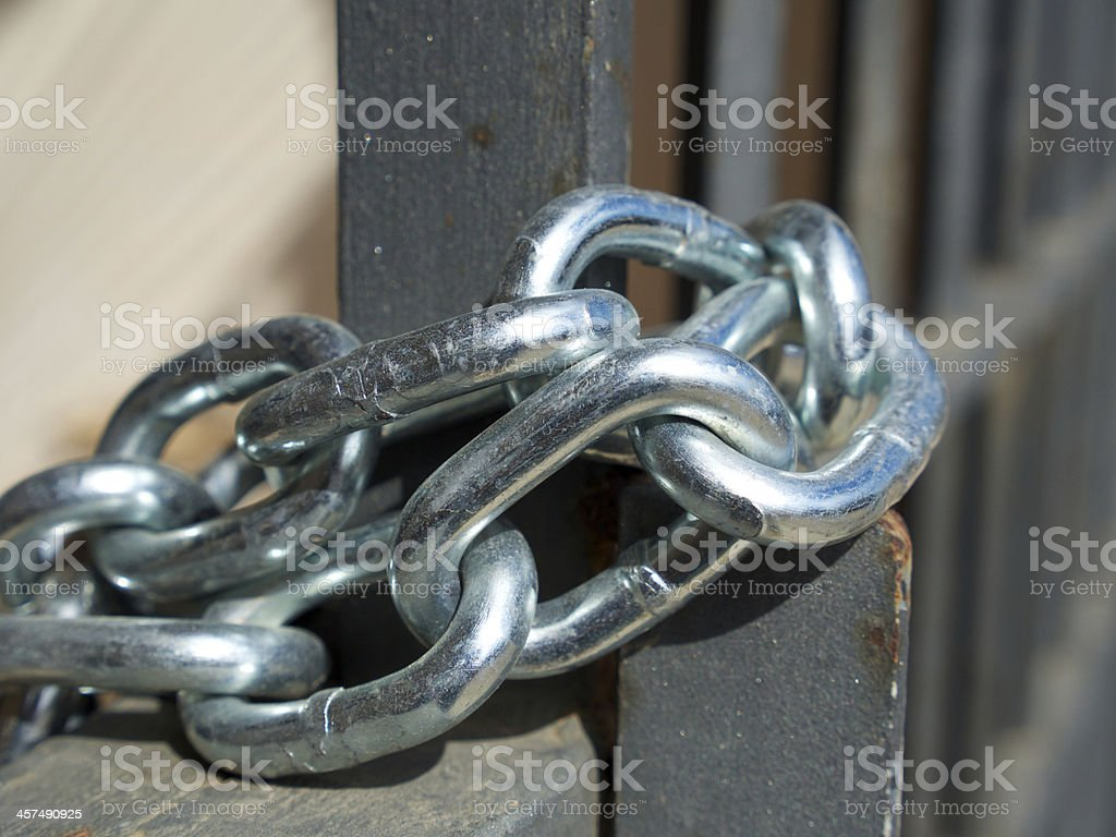 Locked gate royalty-free stock photo