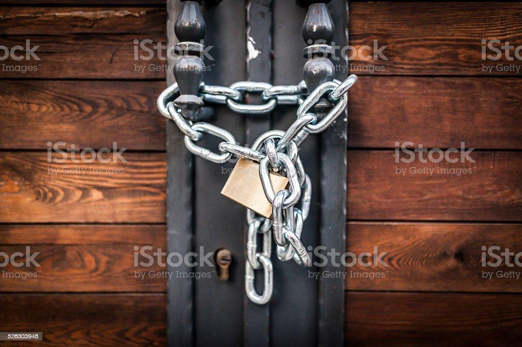Locked Gate stock photo