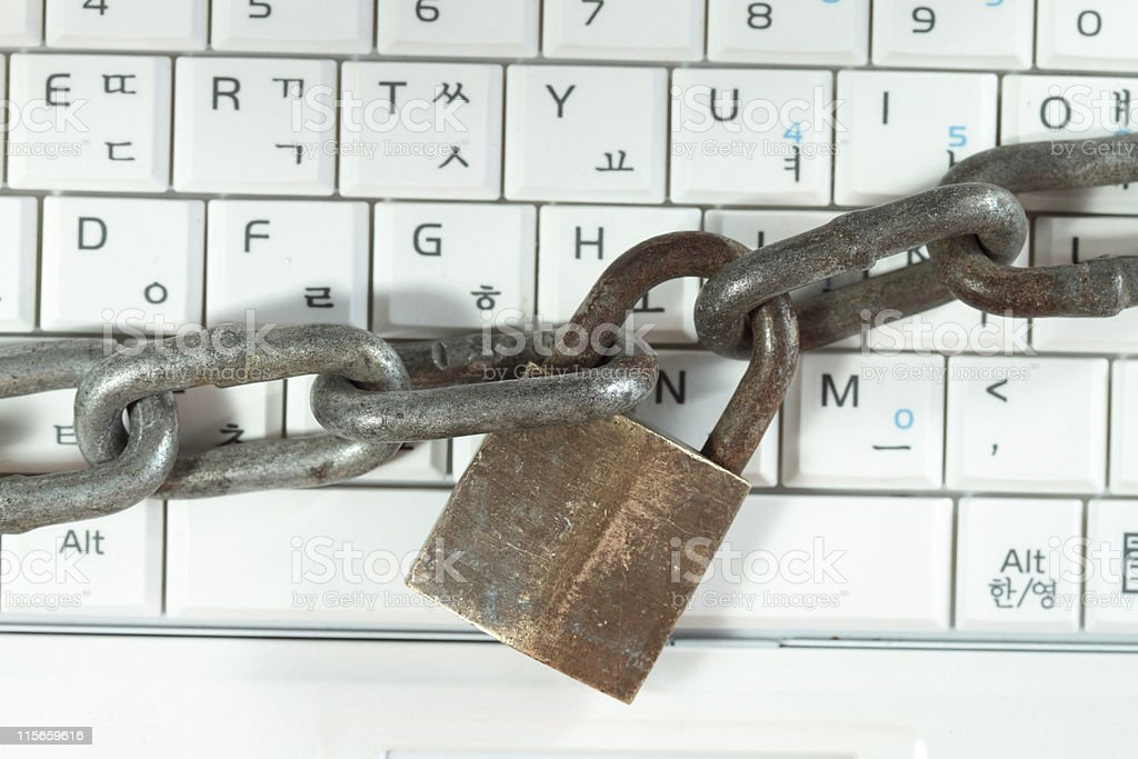 Locked Keyboard stock photo