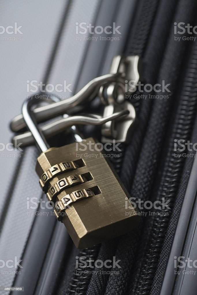 Locked Luggage stock photo