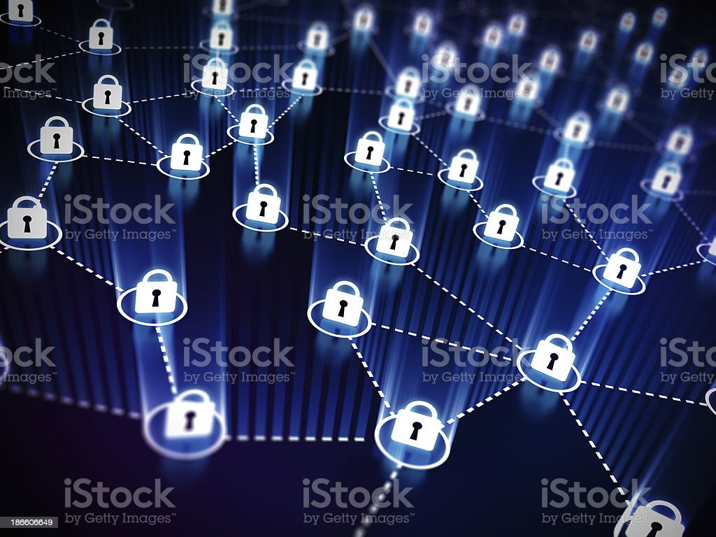 Locked Network concept royalty-free stock photo