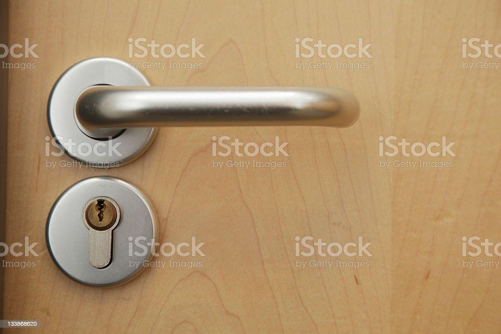 Locked Office Door royalty-free stock photo
