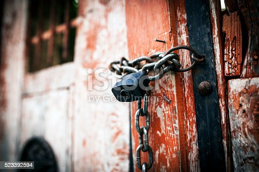 Locked Old Door