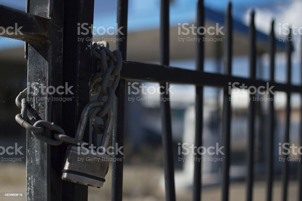 Locked Out stock photo