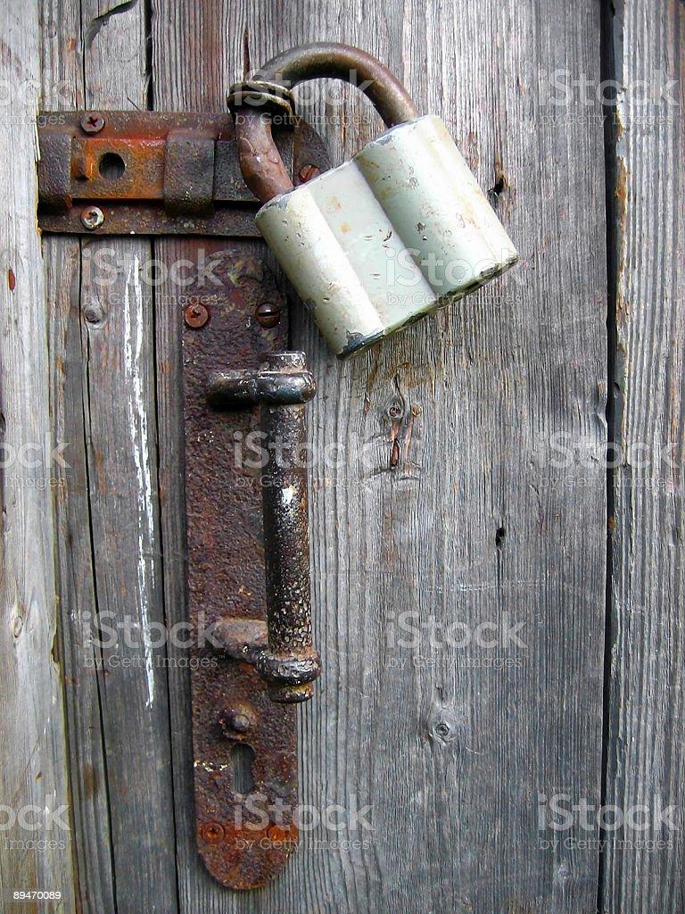 Locked since long ago royalty-free stock photo