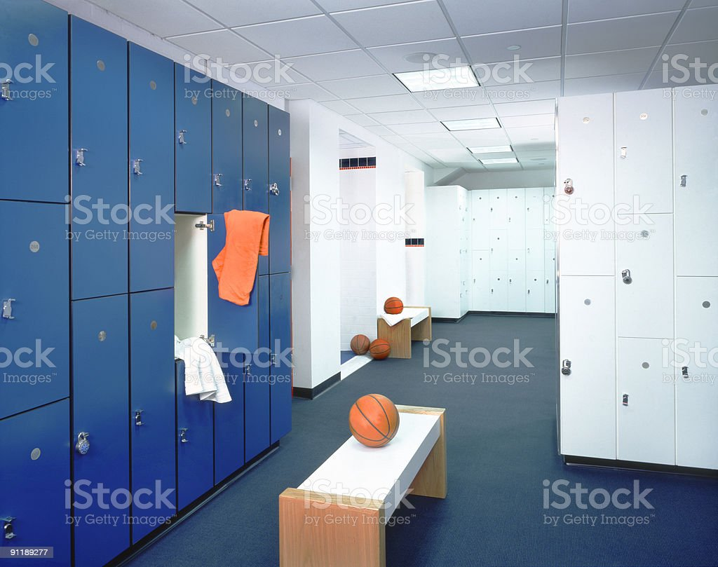 Locker Room and T-shirt stock photo