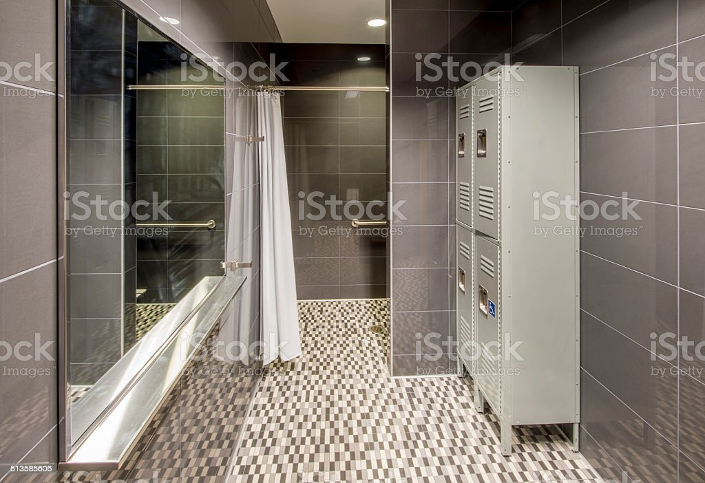 Locker Room With Showers stock photo | iStock