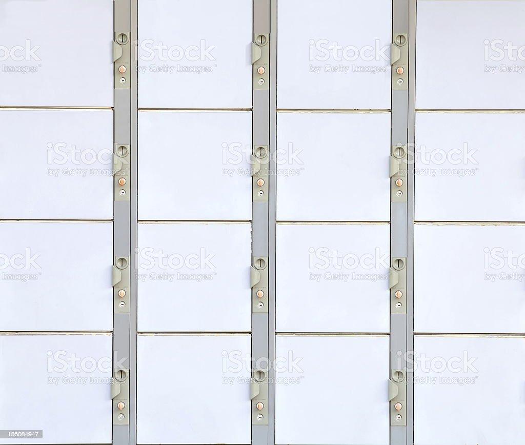 lockers at the station royalty-free stock photo