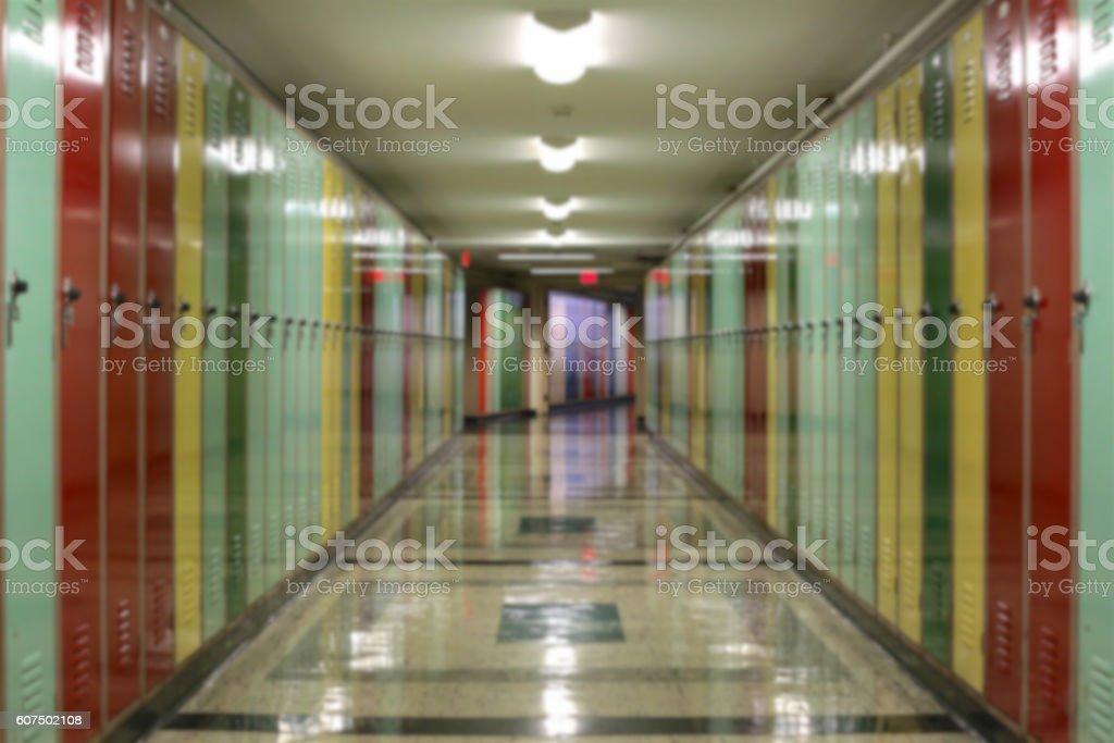 Lockers Blur stock photo