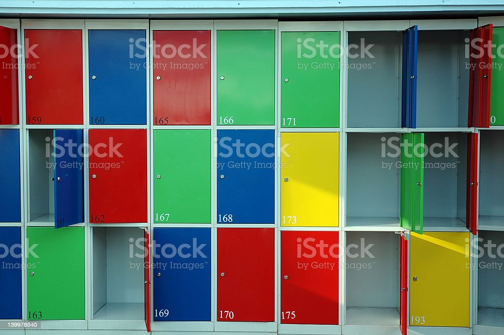 Lockers stock photo