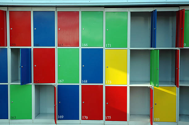 lockers - alintal stock pictures, royalty-free photos & images