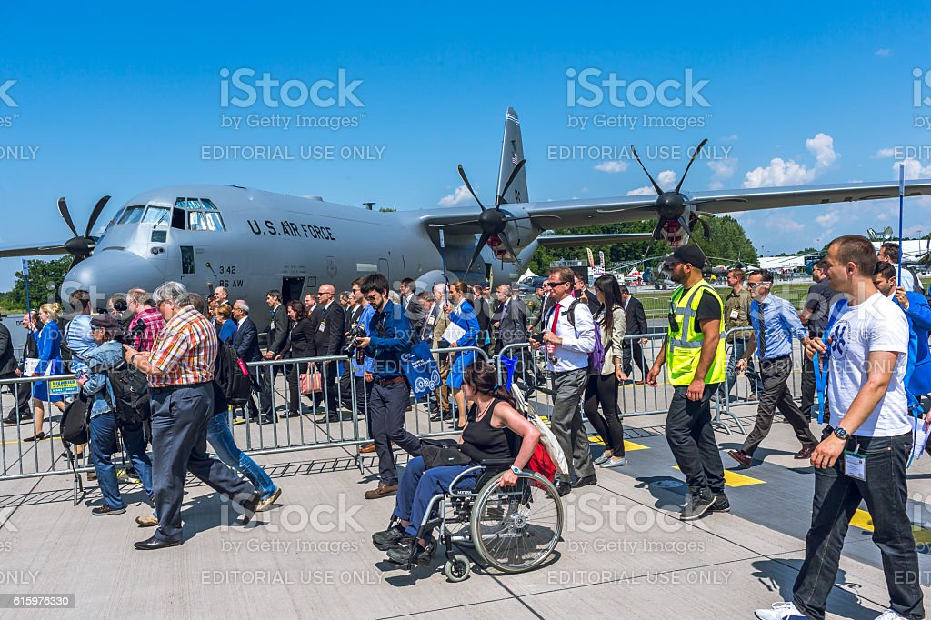Lockheed C-130 Hercules at ILA 2014 stock photo