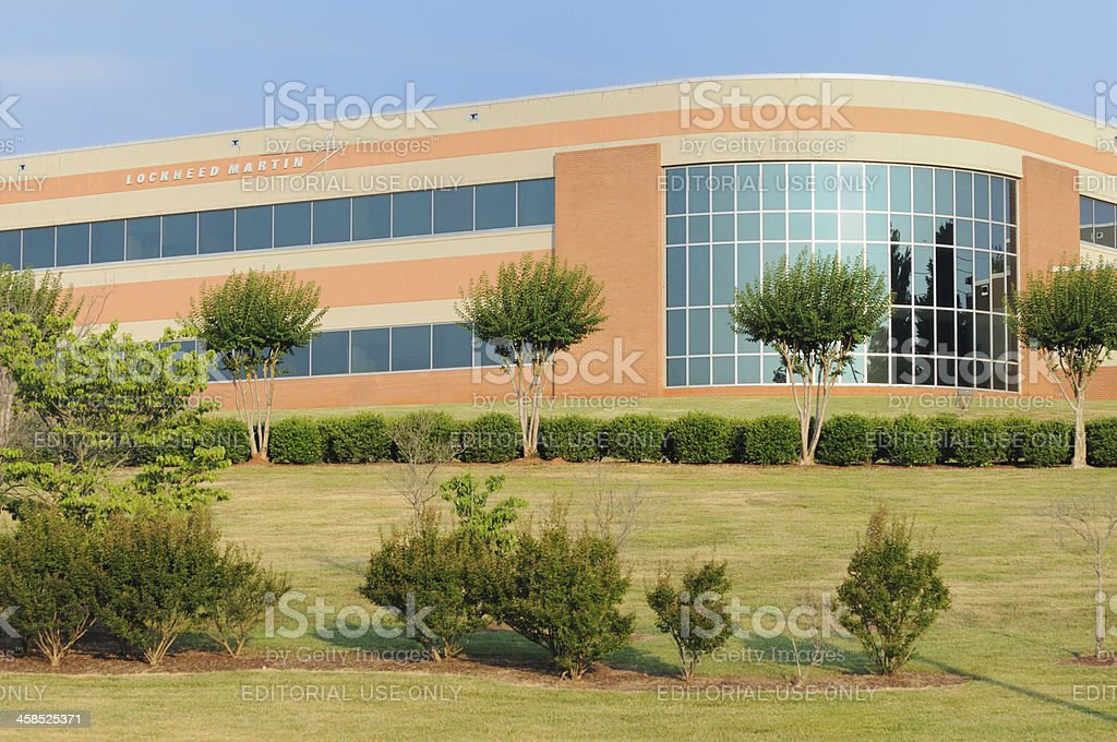 Lockheed Martin building with sign stock photo