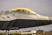 Flying demonstration of the US Airforce's (USAF) new Lockheed Martin F-22 Raptor, Avalon Airshow 26 Feb-3 Mar 2019