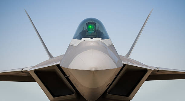 Lockheed Martin/Boeing F22 Raptor A Lockheed Martin/Boeing F22 Raptor with sky as a background advanced tactical fighter stock pictures, royalty-free photos & images