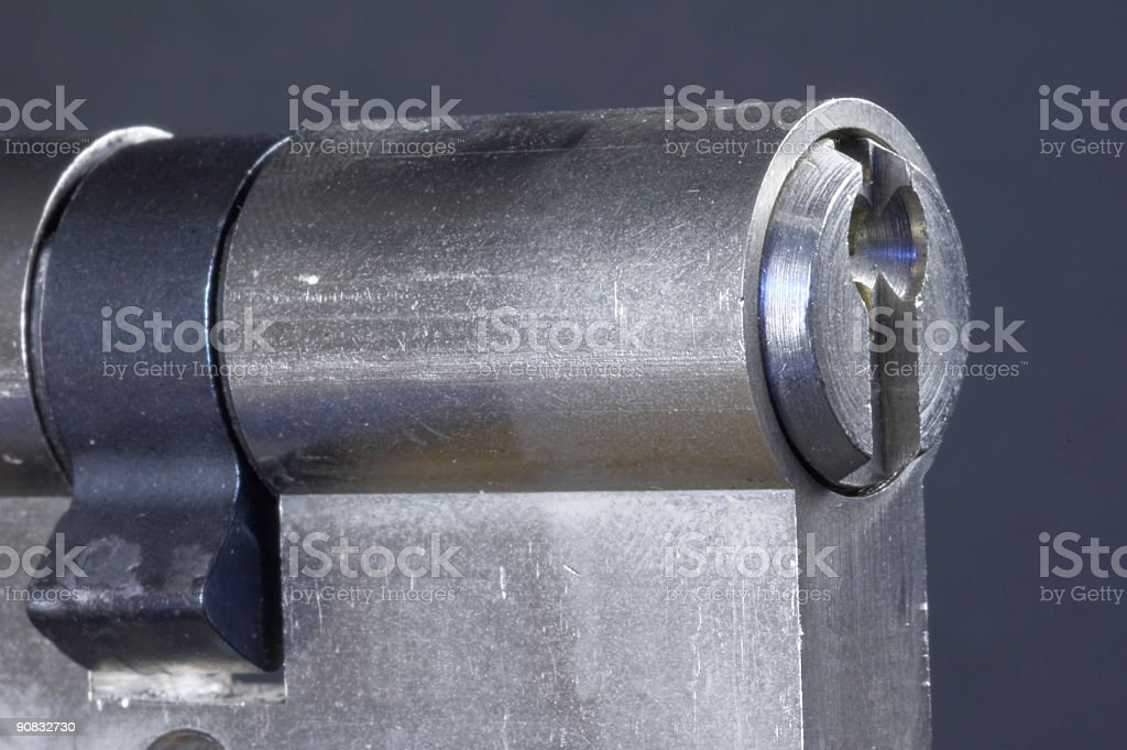 locking cylinder royalty-free stock photo