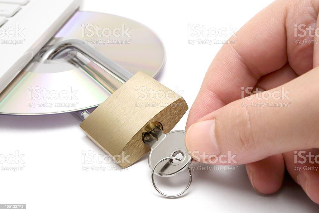 Locking Data stock photo