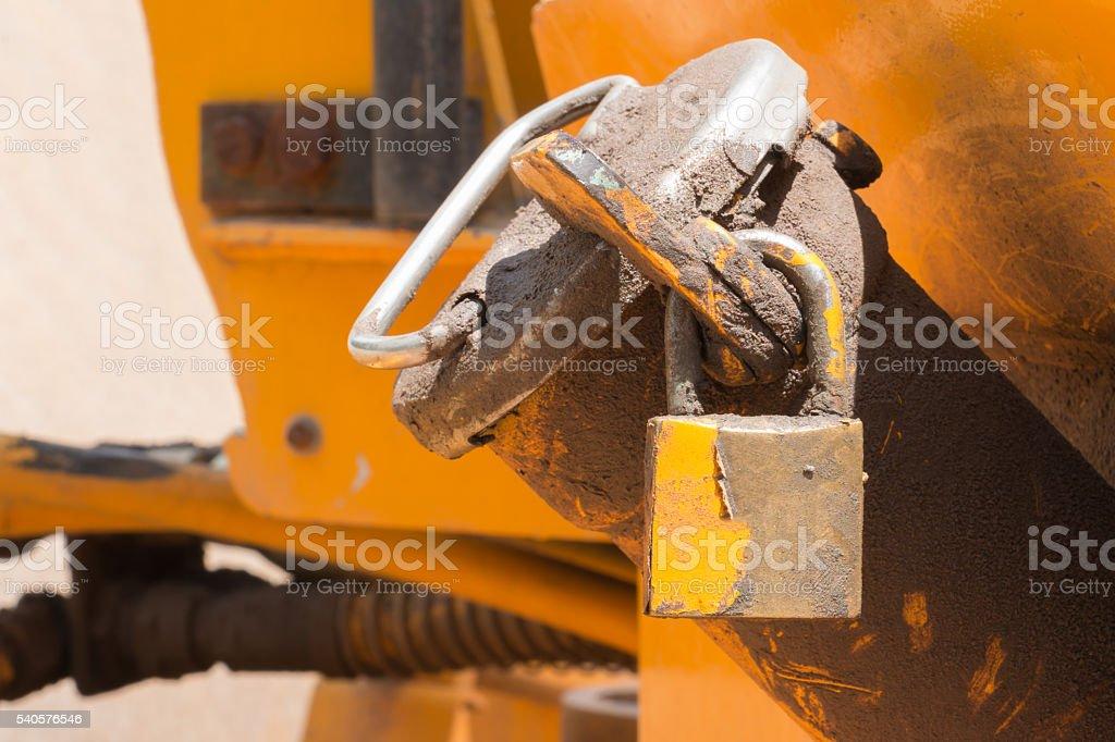 Locking fuel cap stock photo