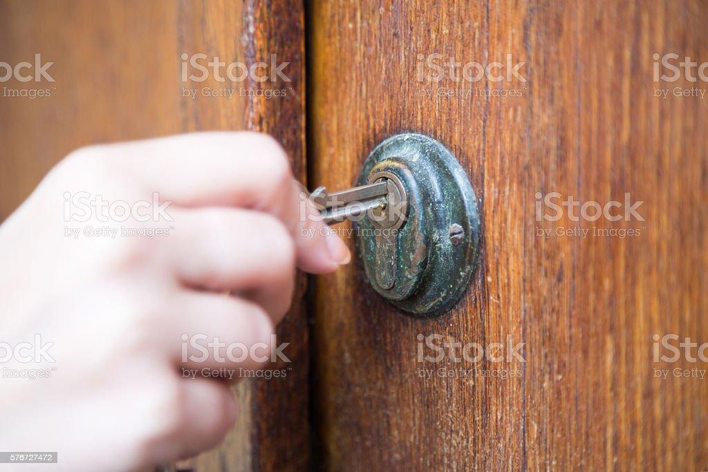 Abschließen der Tür. – Foto