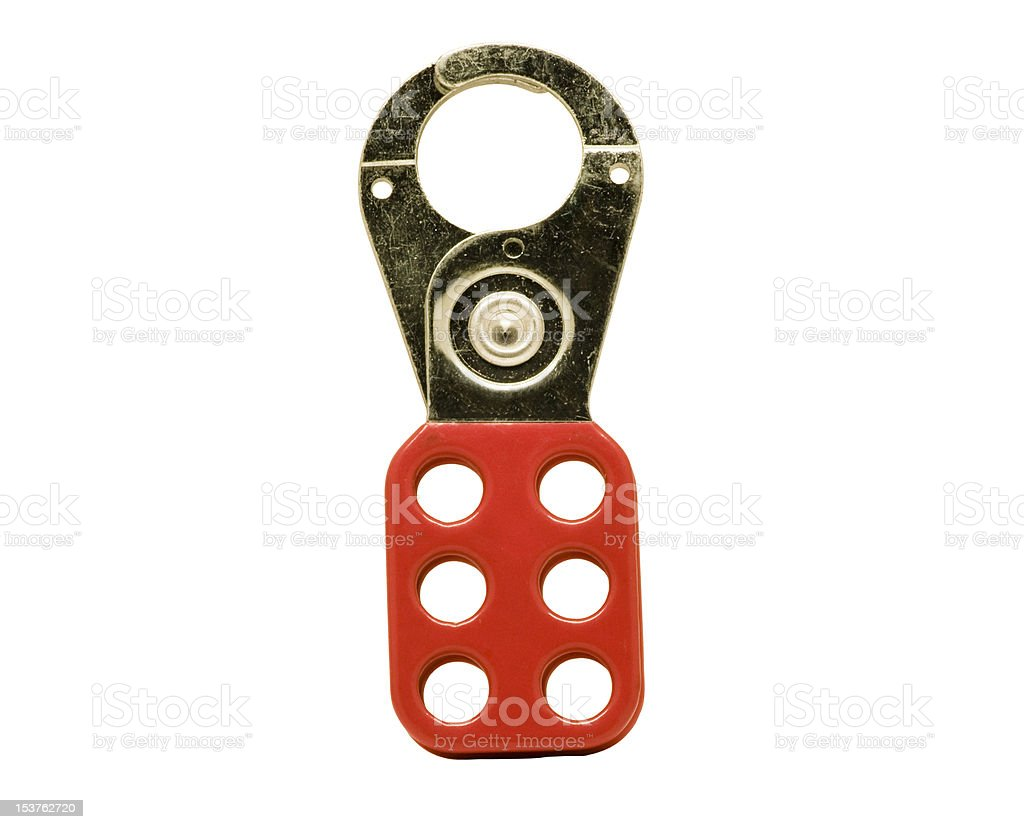 lockout device for a control panel royalty-free stock photo