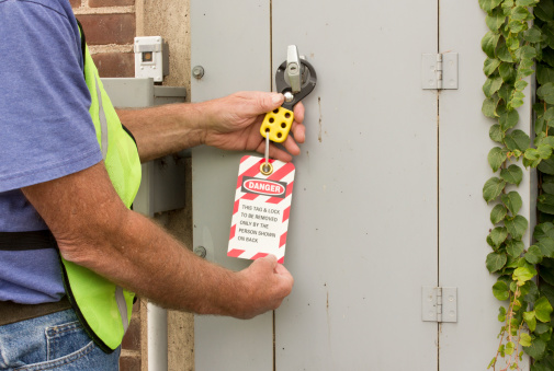 Lockout Tag Stock Photo - Download Image Now