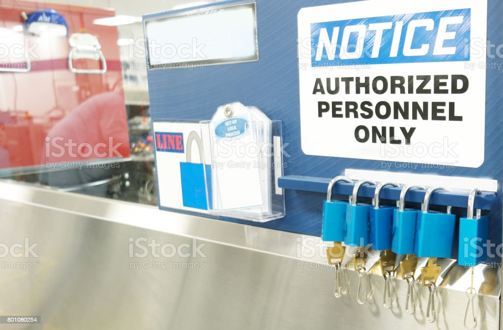 lockout tagout stock photo