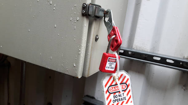 Lockout Tagout Safety Procedure Lockout-tagout (LOTO) or lock and tag is a safety procedure which is used in industry and research settings to ensure that dangerous machines are properly shut off and not able to be started up again prior to the completion of maintenance or servicing work. lockout stock pictures, royalty-free photos & images