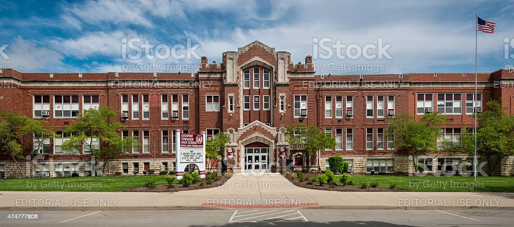Lockport Township High School stock photo